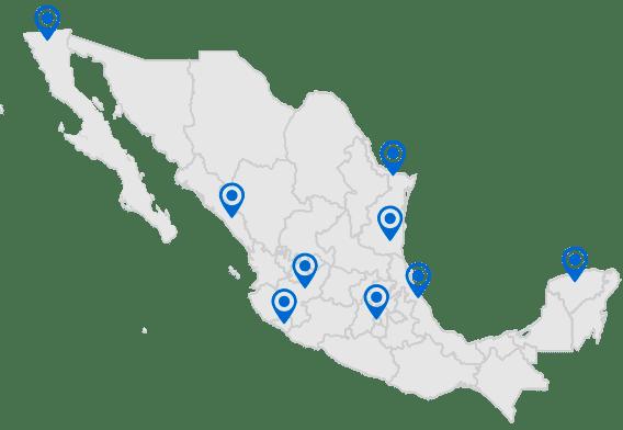 Mapa cobertura Mexico